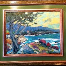 The Masters Bench - Oil on Linen 2 x 25 Framed