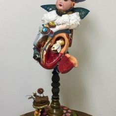 My Heart Has Wings - Assemblage 26 x 12 x 8