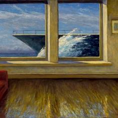 Big Wave II  - Oil on Linen 34 x 48 Framed