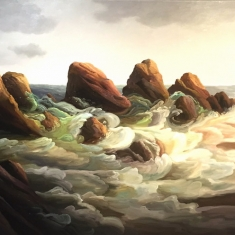 Rocky Shore SOLD - Museum Exhibition August 2015 44 x 68 Oil on Canvas