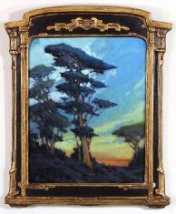 A Blues Affair SOLD - Oil on Linen 12 x 15 Custom Vintage Frame