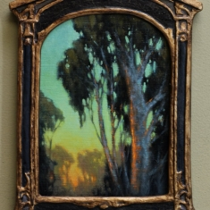 A Gaze Beyond SOLD - Oil on Linen 9.5 x 12.5 Deco Frame