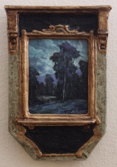 Cool Nights - Oil on Linen Deco Frame $695