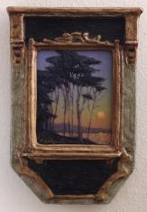 One Autumn Eve - Oil on Linen 7x10 Deco Frame $695