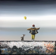 Made it Ma-The Top of the World SOLD - Oil on Canvas 40 x 40