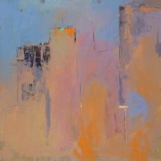 Hot City - Oil on panel 24 x 24