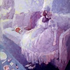 Princess - Oil on canvas 36x24 framed