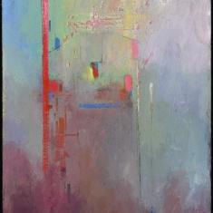 Red Line SOLD - Oil on panel 24 x 16 framed